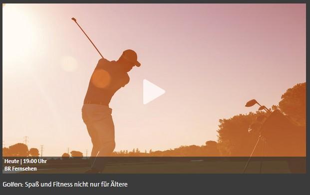 2021-10-19 Dominik Ramspott TV-Interview BR Fernsehen Golfphysiotherapie
