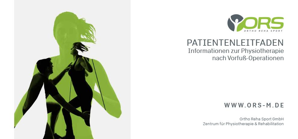 PATIENTENLEITFADEN - Informationen zur Physiotherapie nach Vorfuß-Operationen